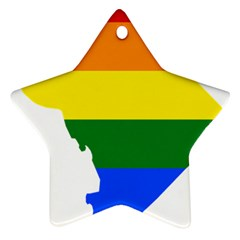 Lgbt Flag Map Of Washington, D C Star Ornament (two Sides)