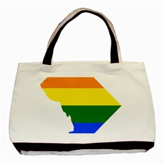 Lgbt Flag Map Of Washington, D C Basic Tote Bag (two Sides)