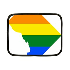 Lgbt Flag Map Of Washington, D C Netbook Case (small)