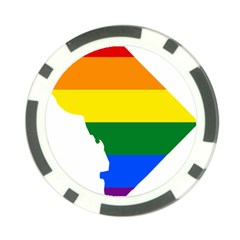 Lgbt Flag Map Of Washington, D C Poker Chip Card Guards (10 Pack)