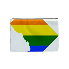Lgbt Flag Map Of Washington, D C Cosmetic Bag (medium)