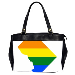Lgbt Flag Map Of Washington, D C Office Handbags (2 Sides)
