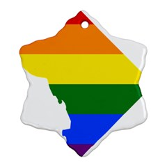 Lgbt Flag Map Of Washington, D C Ornament (Snowflake)