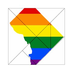Lgbt Flag Map Of Washington, D C Acrylic Tangram Puzzle (6  X 6 )
