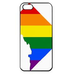 Lgbt Flag Map Of Washington, D C Apple Iphone 5 Seamless Case (black)