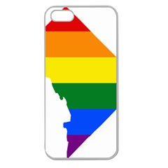 Lgbt Flag Map Of Washington, D C Apple Seamless Iphone 5 Case (clear)