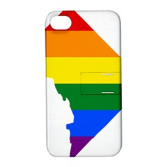 Lgbt Flag Map Of Washington, D C Apple Iphone 4/4s Hardshell Case With Stand