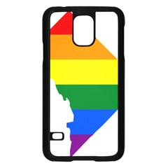 Lgbt Flag Map Of Washington, D C Samsung Galaxy S5 Case (black)