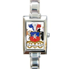 Coat Of Arms Of Chile  Rectangle Italian Charm Watch