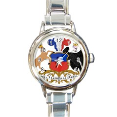Coat Of Arms Of Chile  Round Italian Charm Watch