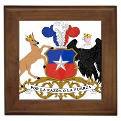 Coat Of Arms Of Chile  Framed Tiles