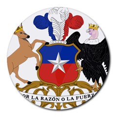 Coat Of Arms Of Chile  Round Mousepads