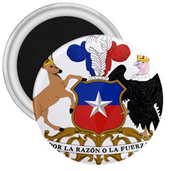 Coat Of Arms Of Chile  3  Magnets