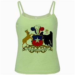 Coat Of Arms Of Chile  Green Spaghetti Tank