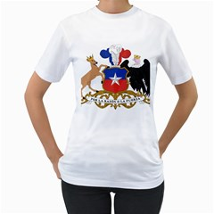 Coat Of Arms Of Chile  Women s T Shirt (white) (two Sided)