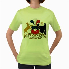 Coat Of Arms Of Chile  Women s Green T-Shirt