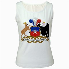 Coat Of Arms Of Chile  Women s White Tank Top