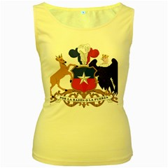 Coat Of Arms Of Chile  Women s Yellow Tank Top