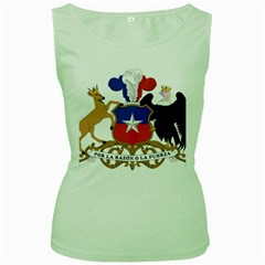 Coat Of Arms Of Chile  Women s Green Tank Top