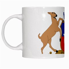 Coat Of Arms Of Chile  White Mugs