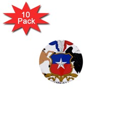 Coat Of Arms Of Chile  1  Mini Buttons (10 Pack)