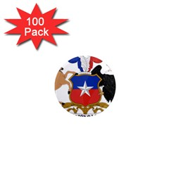 Coat Of Arms Of Chile  1  Mini Magnets (100 Pack)
