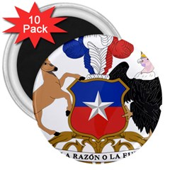 Coat Of Arms Of Chile  3  Magnets (10 Pack)