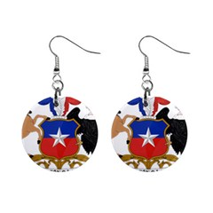 Coat Of Arms Of Chile  Mini Button Earrings