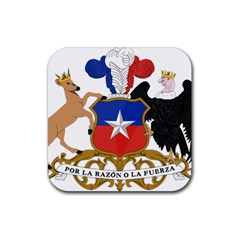 Coat Of Arms Of Chile  Rubber Coaster (square)