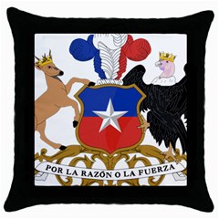 Coat Of Arms Of Chile  Throw Pillow Case (black)