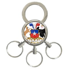 Coat Of Arms Of Chile  3 Ring Key Chains