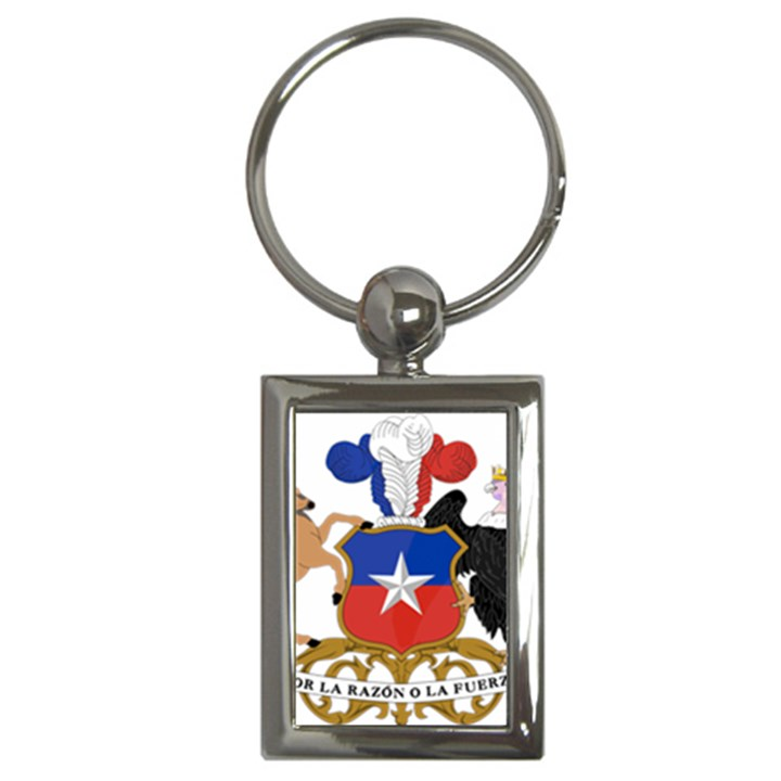 Coat Of Arms Of Chile  Key Chains (Rectangle)