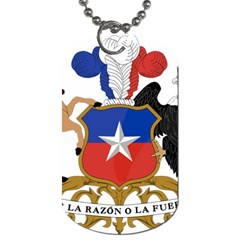 Coat Of Arms Of Chile  Dog Tag (one Side)