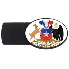 Coat Of Arms Of Chile  Usb Flash Drive Oval (2 Gb)