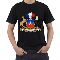 Coat Of Arms Of Chile  Men s T Shirt (black) (two Sided)
