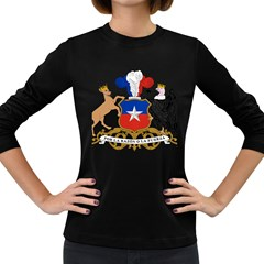 Coat Of Arms Of Chile  Women s Long Sleeve Dark T Shirts