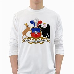 Coat Of Arms Of Chile  White Long Sleeve T Shirts