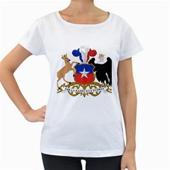 Coat Of Arms Of Chile  Women s Loose Fit T Shirt (white)
