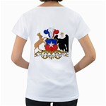 Coat Of Arms Of Chile  Women s Loose-Fit T-Shirt (White) Back
