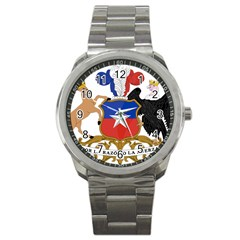 Coat Of Arms Of Chile  Sport Metal Watch