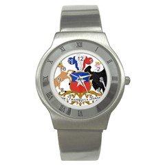Coat Of Arms Of Chile  Stainless Steel Watch