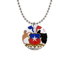 Coat Of Arms Of Chile  Button Necklaces
