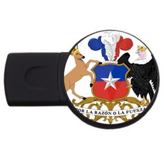 Coat Of Arms Of Chile  Usb Flash Drive Round (4 Gb)