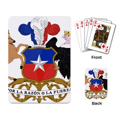 Coat Of Arms Of Chile  Playing Card