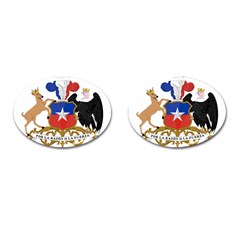 Coat Of Arms Of Chile  Cufflinks (oval)