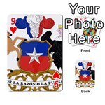 Coat Of Arms Of Chile  Playing Cards 54 Designs  Front - Heart9