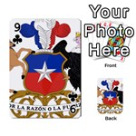 Coat Of Arms Of Chile  Playing Cards 54 Designs  Front - Club9