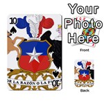 Coat Of Arms Of Chile  Playing Cards 54 Designs  Front - Spade10