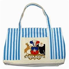 Coat Of Arms Of Chile  Striped Blue Tote Bag