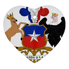 Coat Of Arms Of Chile  Heart Ornament (2 Sides)
